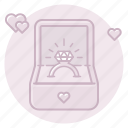 engagement, marriage, proposal, ring, wedding icon