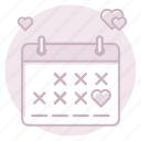 calendar, date, marriage, wedding, wedding day icon