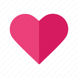 card, heart, hearts, love, red, single, valentine icon