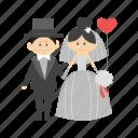 bride, couple, dress, groom, happy, wedding, woman