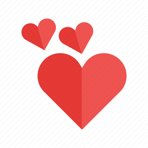 card, heart, hearts, love, red, two, valentine icon