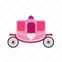 carriage, fairytale, horse, party, prince, princess, wedding icon