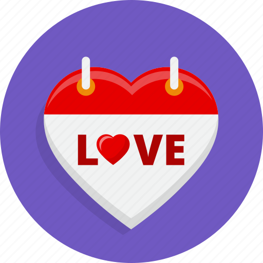 calendar, heart, love, marriage, valentine, wedding icon