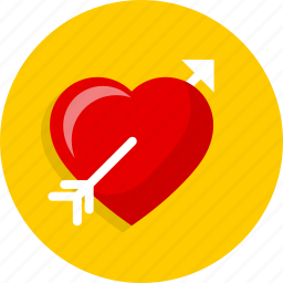 cupid, fall, heart, love, passion, wedding icon