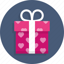 gift, heart, love, present, surprise, wedding icon