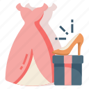 bride, clothes, costume, dress, married, wedding icon