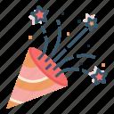 birthday, celebration, confetti, party, wedding icon