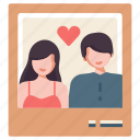 couple picture, frame, love, photo, picture, together, wedding icon