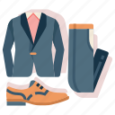 clothes, costume, married, tuxedo, wedding icon