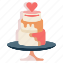 cake, dessert, marriage, wedding, wedding cake
