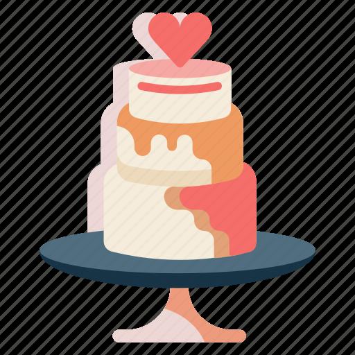 cake, dessert, marriage, wedding, wedding cake icon