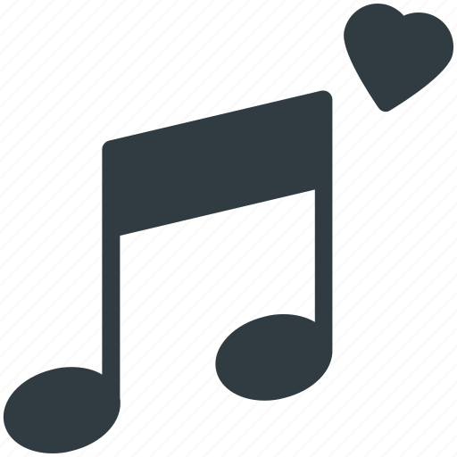 Classical music, heart, instrument, love song, melody, musical note, romantic music icon - Download on Iconfinder