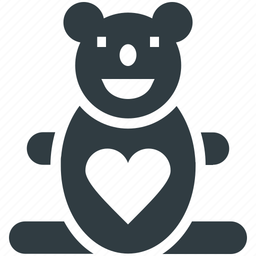 animal, heart sign, love teddy, teddy, teddy bear, teddy bear gift, toy teddy icon