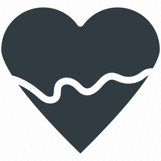 Chocolate heart, chocolate syrup, dessert, dripping chocolate, heart shaped candy, sweet icon - Download on Iconfinder