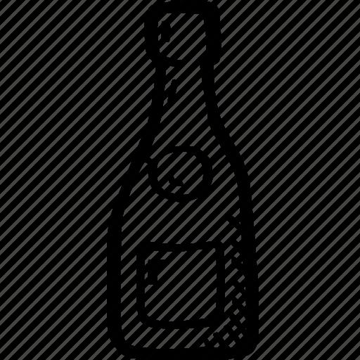 beverage, bottle, celebration, champagne, drink, toast, wedding icon