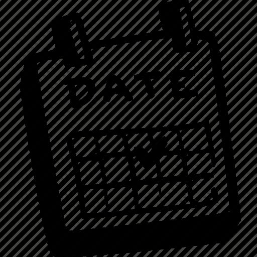 Blank Calendar Day Icon : Calendar callendar date wedding icon