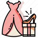 bride, clothes, collection, dress, married, wedding icon