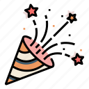 birthday, wedding, confetti, party, celebration icon