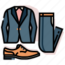 clothes, costume, groom, married, tuxedo, wedding icon