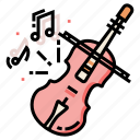 love, music, musical, song, valentine, violin icon