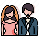 bride, ceremony, couple, groom, marriage, married, wedding icon