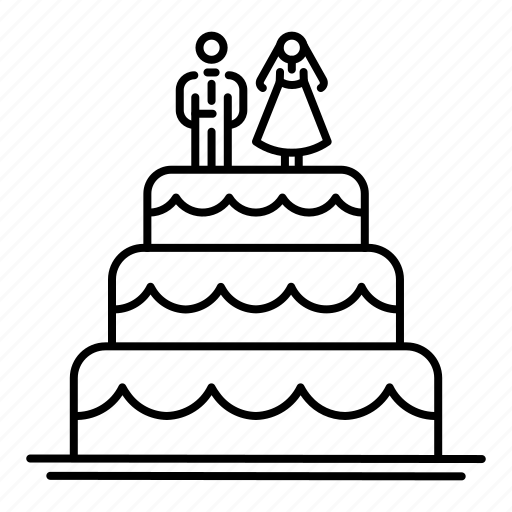 Bride, cake, dessert, groom, wedding, wedding cake icon - Download on Iconfinder