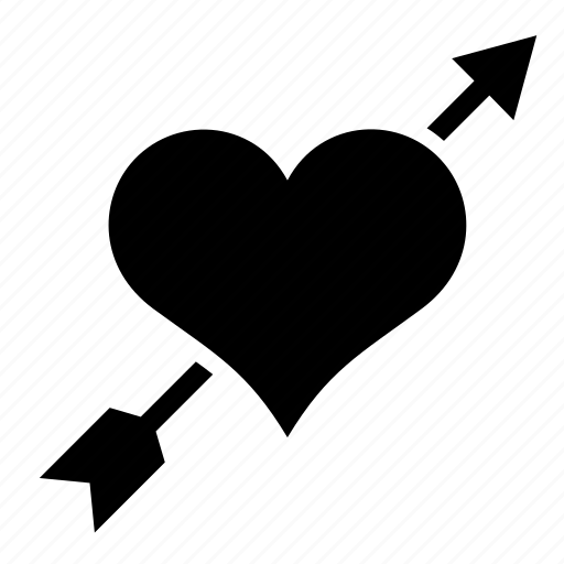 arrow, cupido, heart, love, wedding icon