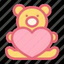 endure, carry, assume, love, pink, wedding, bear icon