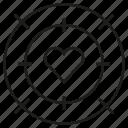 crosshair, dart, heart, love, target icon