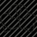 couple, hearts, key, lock, love, valentine icon