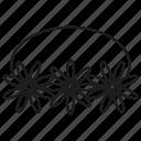 crown, flower, flower crown icon
