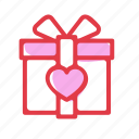 box, gift, ribbon, wedding icon