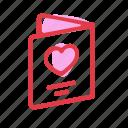 invitation, love, wedding, wedding book icon