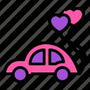 bride, car, dating, love, romance, valentine, wedding icon