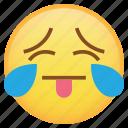drop, emoji, emoticon, sad, smiley, sweat, tears, weird icon