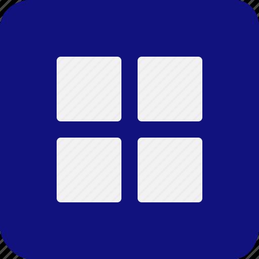 control, divided, four, group, menu, parts, squares icon