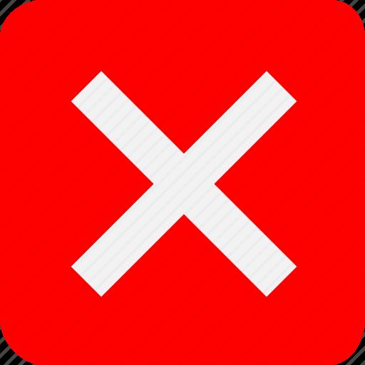 cross, danger, delete, end, error, stop, x icon