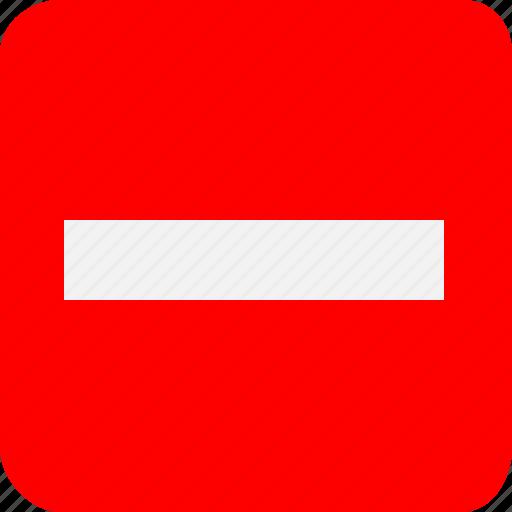 danger, dash, error, line, minus, negative, warning icon