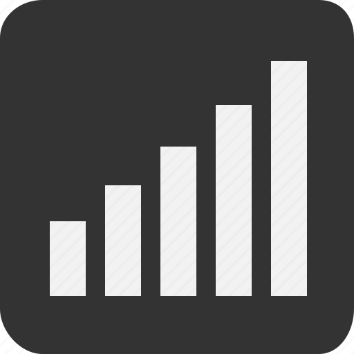 bar, finance, network, profit, range, signal, stock market icon