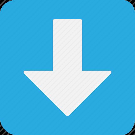arrow, arrows, down, download, white icon
