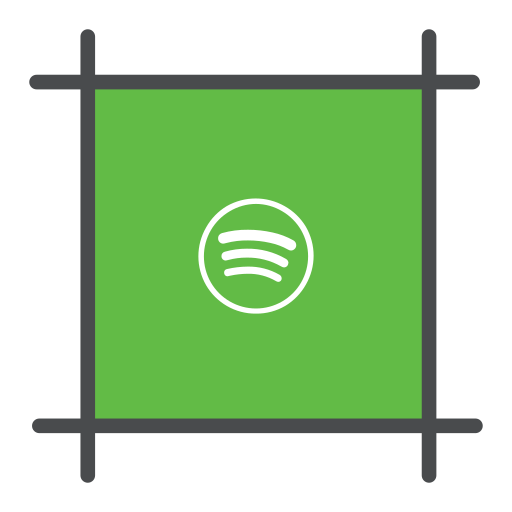 music, playlist, spotify, streming icon