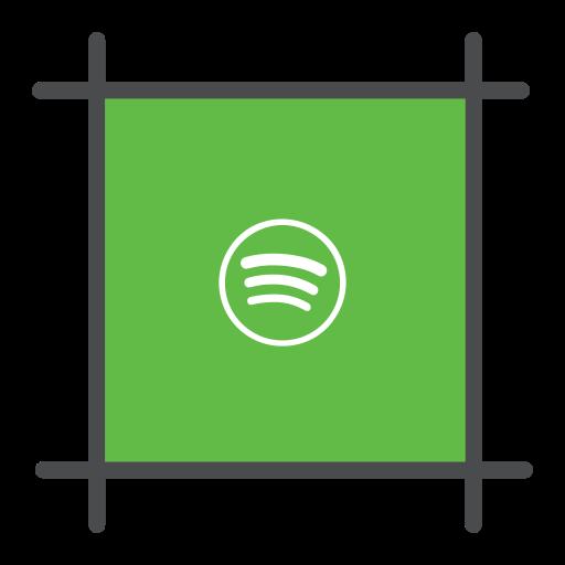 music, playlist, spotify, streming icon