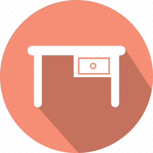 bureau, desk, desk icon, drawer, dresser, study, table icon