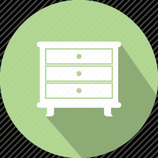 bedroom, drawer, drawers, dresser, dressing icon