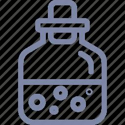 bottle, drink, medicine, potion, venom icon