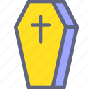 cemetery, coffin, cross, death icon
