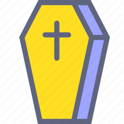 cemetery, coffin, cross, death icon