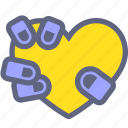 hand, heart, life, love, squeeze icon
