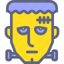 corpse, dead, face, frankenstein, head, zombie icon