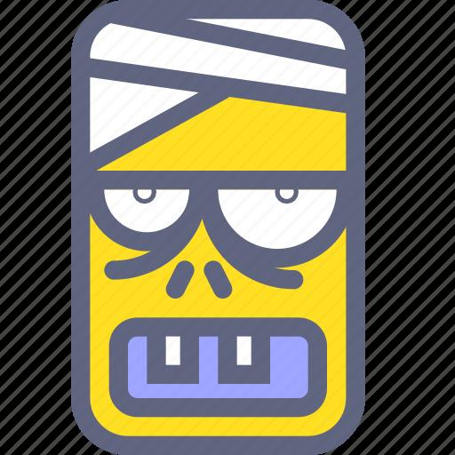 corpse, dead, face, head, zombie icon